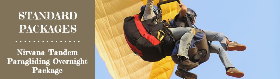 STANDARD PACKAGES - Nirvana Tandem Paragliding Overnight Package